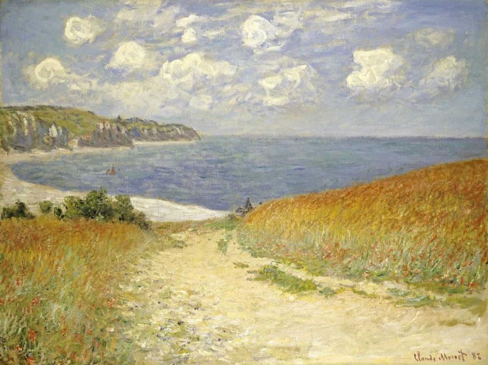 konfigurieren des Kunstdrucks in Wunschgröße Path through the Wheat Fields at Pourville, 1882 von Monet, Claude