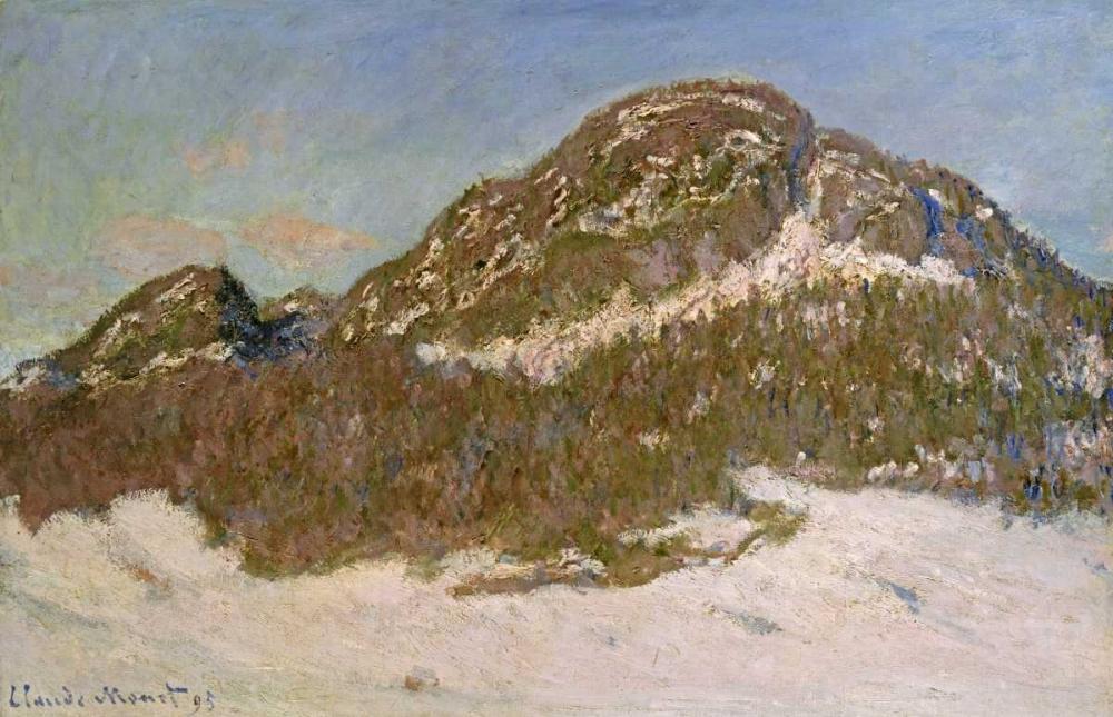 konfigurieren des Kunstdrucks in Wunschgröße Mount Kolsaas in Sunlight von Monet, Claude