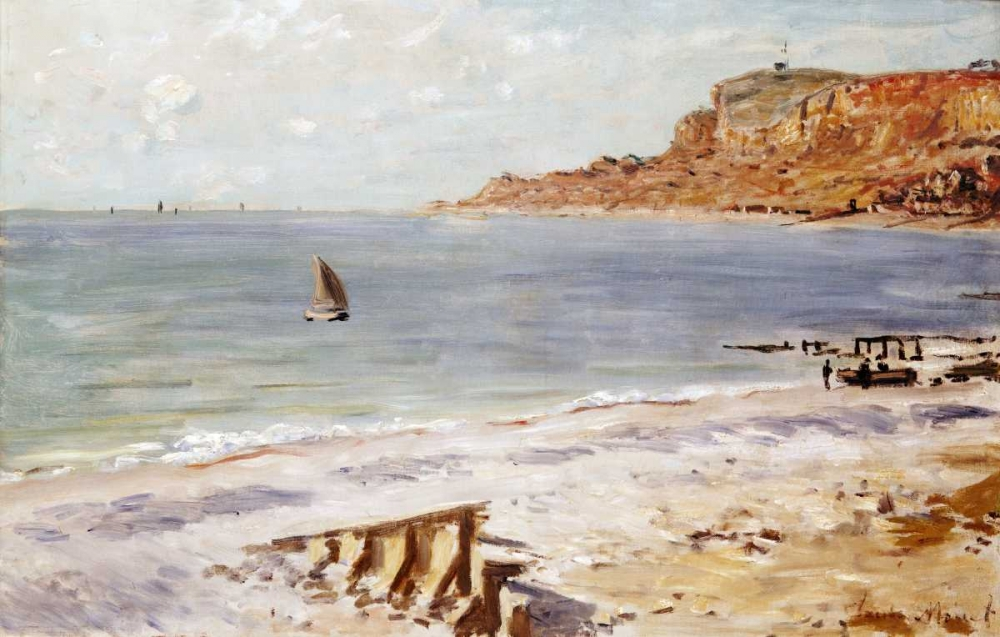 konfigurieren des Kunstdrucks in Wunschgröße Seascape at Sainte-Adresse von Monet, Claude