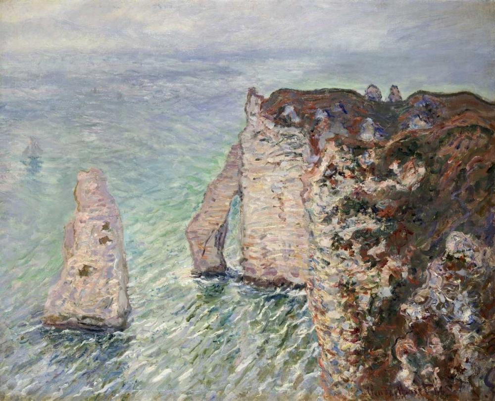 konfigurieren des Kunstdrucks in Wunschgröße LAiguille et la Porte dAval, Etretat von Monet, Claude