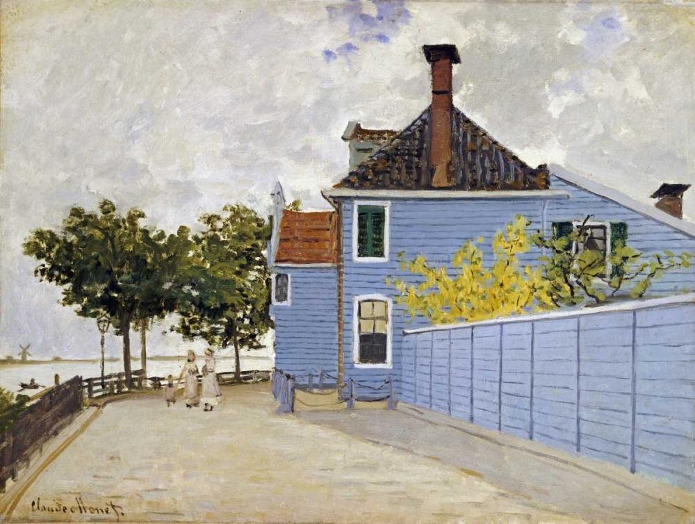 konfigurieren des Kunstdrucks in Wunschgröße The Blue House, Zaandam von Monet, Claude