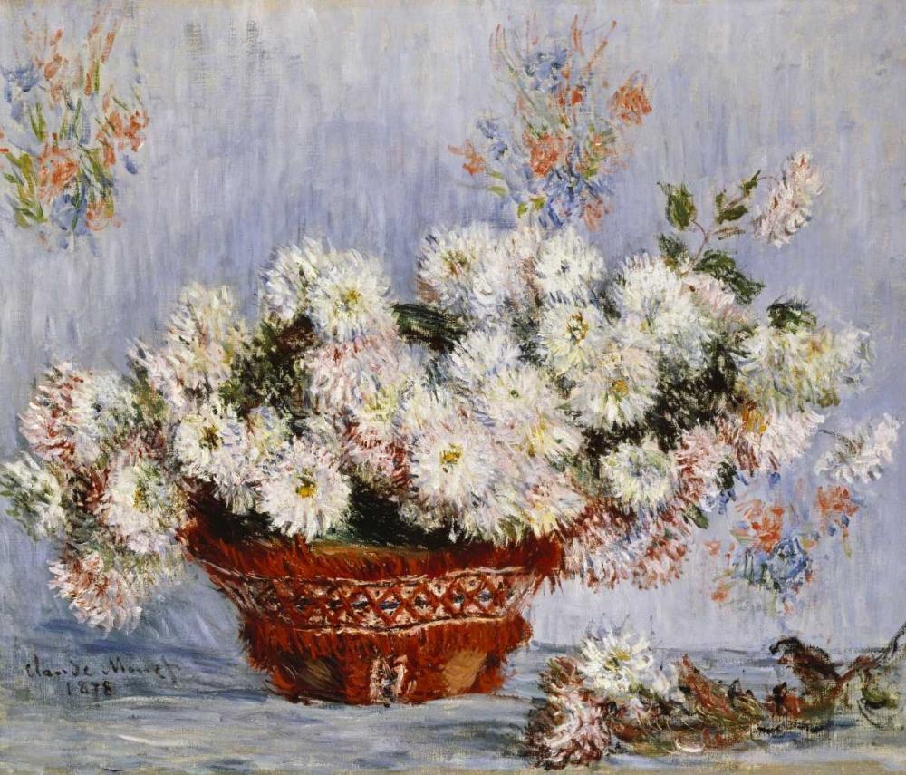 konfigurieren des Kunstdrucks in Wunschgröße Chrysanthemums von Monet, Claude
