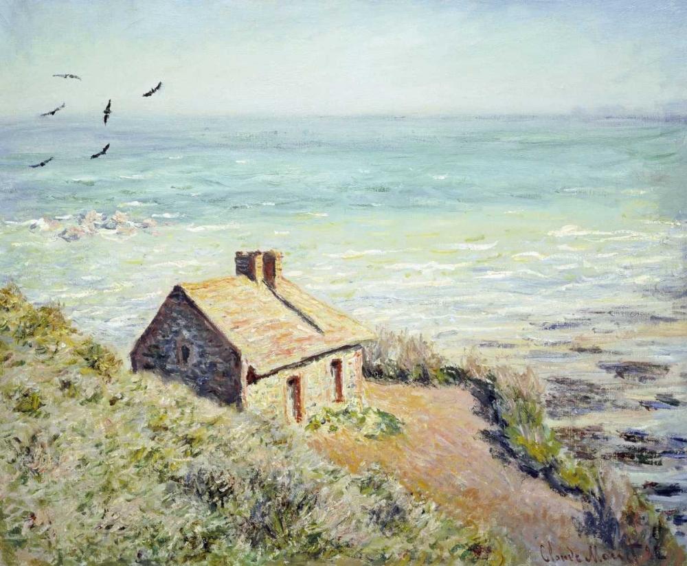 konfigurieren des Kunstdrucks in Wunschgröße The Customs Hut, Morning von Monet, Claude