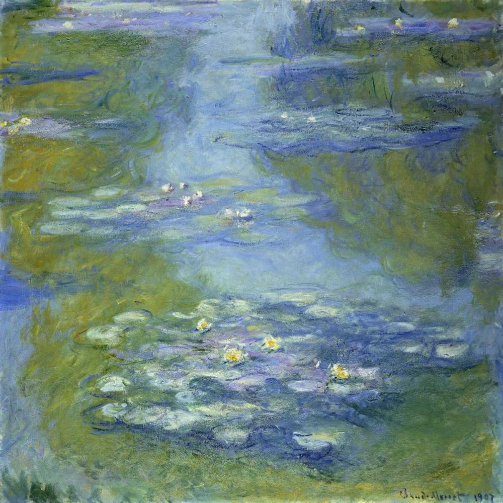 konfigurieren des Kunstdrucks in Wunschgröße Water Lilies von Monet, Claude