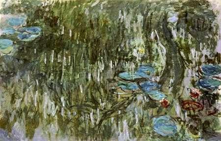 konfigurieren des Kunstdrucks in Wunschgröße Water Lilies, Reflected Willow von Monet, Claude