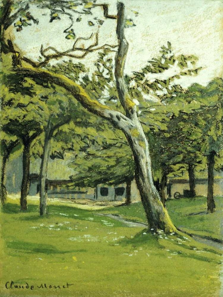 konfigurieren des Kunstdrucks in Wunschgröße An Orchard von Monet, Claude