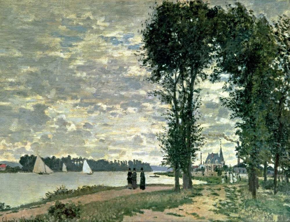 konfigurieren des Kunstdrucks in Wunschgröße The Banks of The Seine at Argenteuil von Monet, Claude