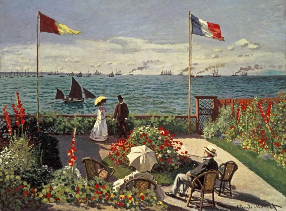 konfigurieren des Kunstdrucks in Wunschgröße The Terrace at Sainte-Adresse von Monet, Claude