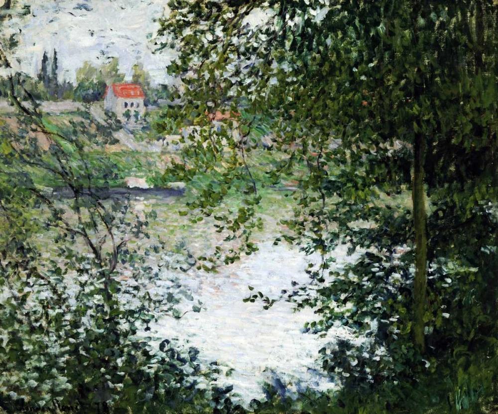 konfigurieren des Kunstdrucks in Wunschgröße The Island of La Grande Jatte, Through the Trees von Monet, Claude