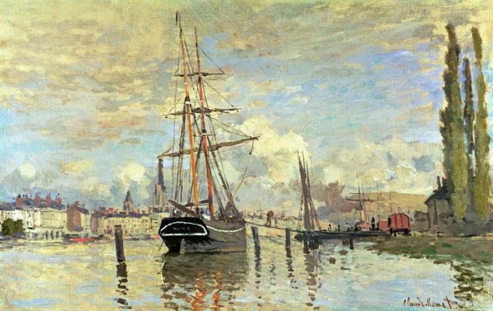 konfigurieren des Kunstdrucks in Wunschgröße The Seine at Rouen von Monet, Claude