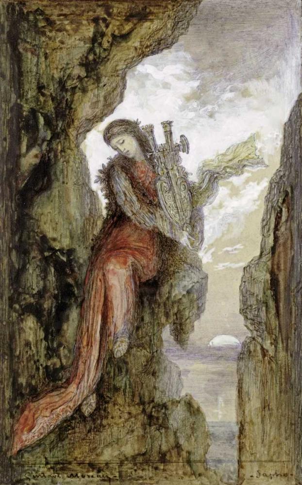konfigurieren des Kunstdrucks in Wunschgröße Sappho On The Cliff von Moreau, Gustave
