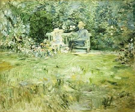 konfigurieren des Kunstdrucks in Wunschgröße The Gardening Lesson von Morisot, Berthe