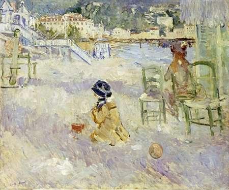 konfigurieren des Kunstdrucks in Wunschgröße Plage De Nice von Morisot, Berthe