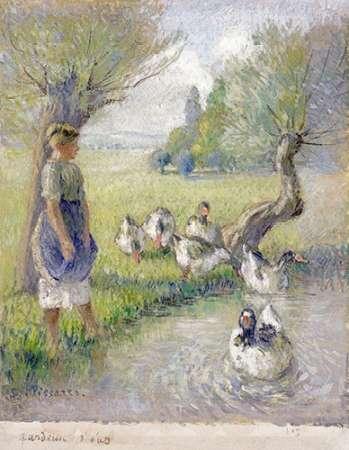 konfigurieren des Kunstdrucks in Wunschgröße The Goose Girl von Pissarro, Camille