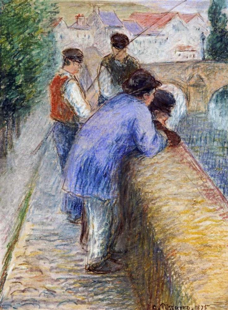 konfigurieren des Kunstdrucks in Wunschgröße Fishermen von Pissarro, Camille