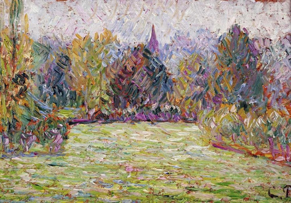 konfigurieren des Kunstdrucks in Wunschgröße Bazincourt Countryside von Pissarro, Camille