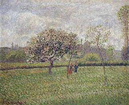 konfigurieren des Kunstdrucks in Wunschgröße Apple Tree Blossom at Eragny von Pissarro, Camille