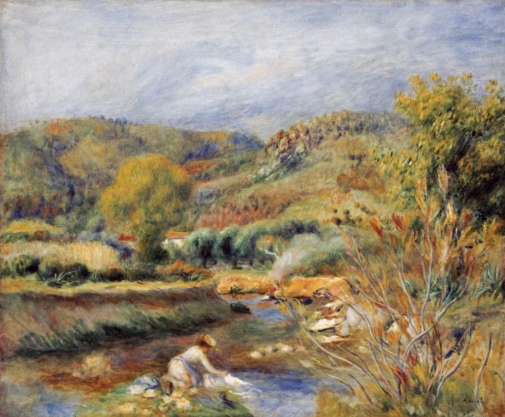 konfigurieren des Kunstdrucks in Wunschgröße The Washerwoman von Renoir, Pierre-Auguste