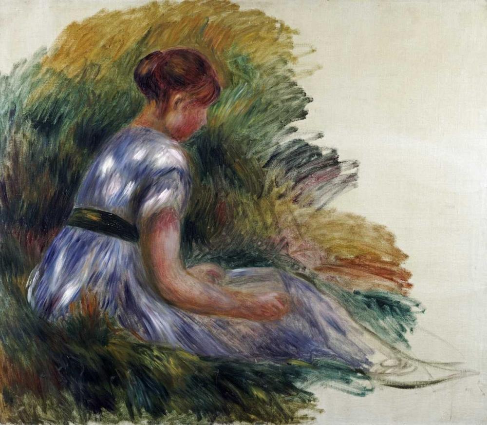 konfigurieren des Kunstdrucks in Wunschgröße Alice Gamby In The Garden von Renoir, Pierre-Auguste