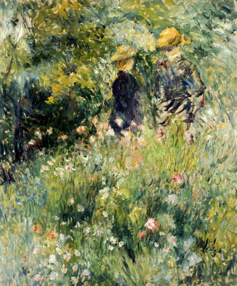 konfigurieren des Kunstdrucks in Wunschgröße Conversation Dans Une Roseraie von Renoir, Pierre-Auguste
