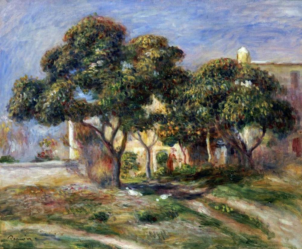 konfigurieren des Kunstdrucks in Wunschgröße The Medlar Trees von Renoir, Pierre-Auguste