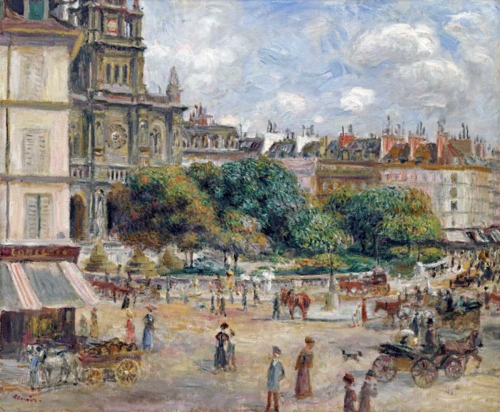 konfigurieren des Kunstdrucks in Wunschgröße Place De La Trinite von Renoir, Pierre-Auguste