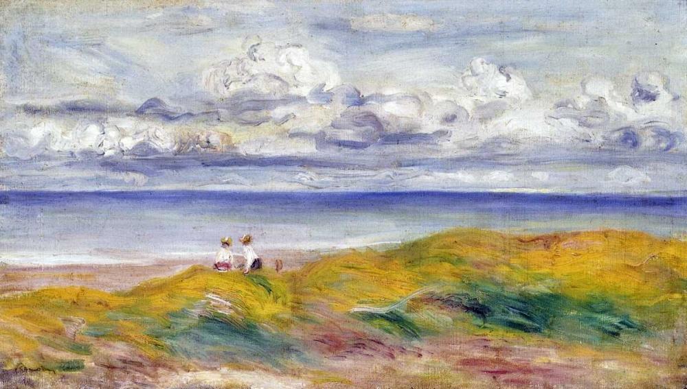 konfigurieren des Kunstdrucks in Wunschgröße On The Cliffs von Renoir, Pierre-Auguste