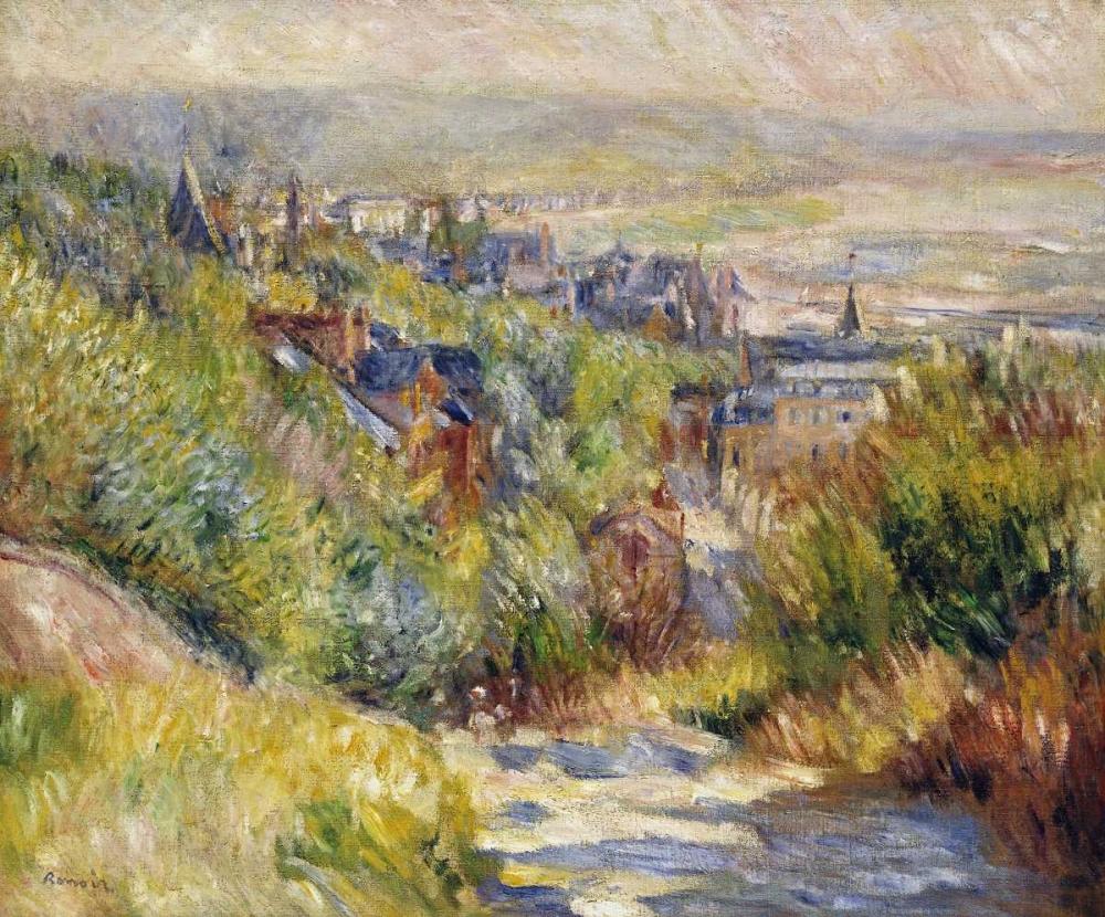 konfigurieren des Kunstdrucks in Wunschgröße The Heights at Trouville von Renoir, Pierre-Auguste