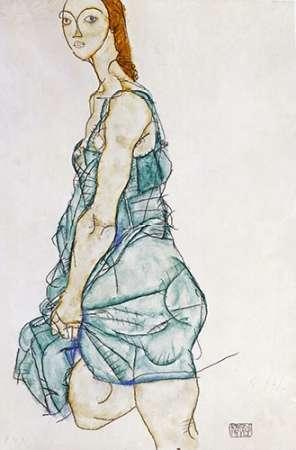 Upright Standing Woman von Schiele, Egon <br> max. 61 x 91cm <br> Preis: ab 10€
