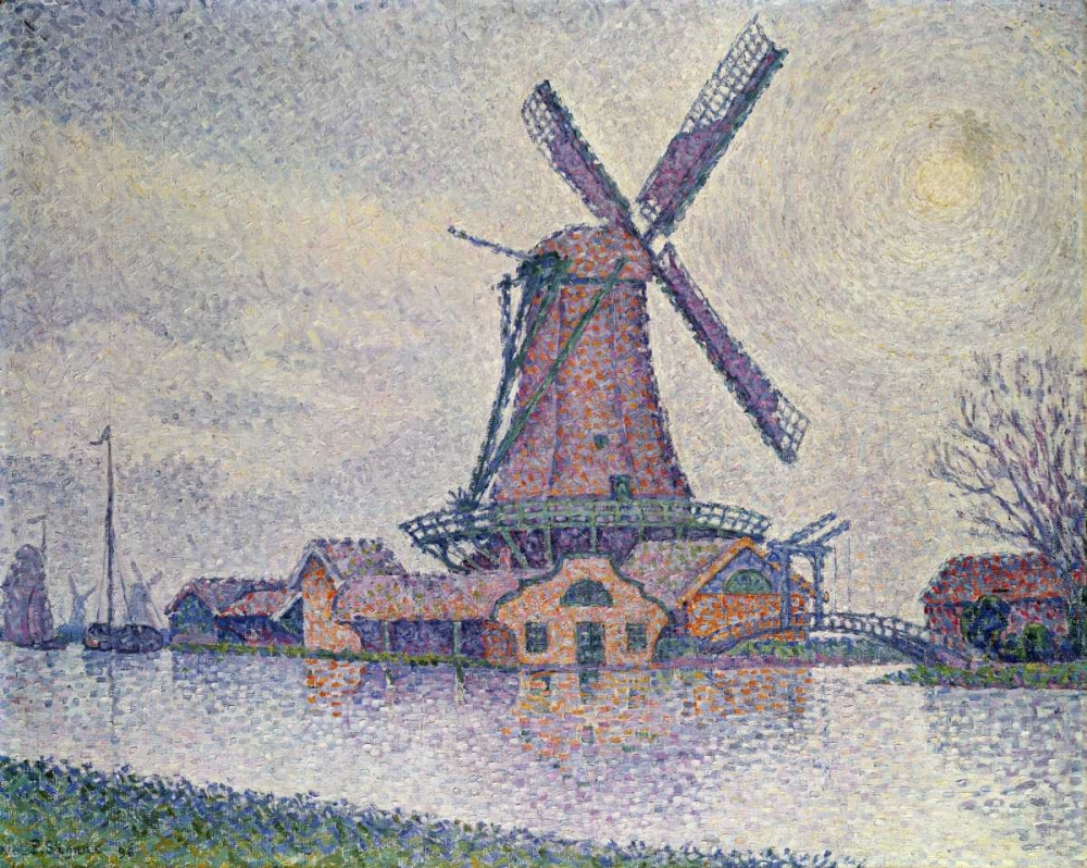 konfigurieren des Kunstdrucks in Wunschgröße Moulin DEdam von Signac, Paul