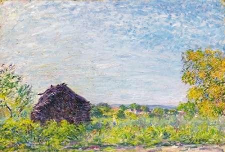konfigurieren des Kunstdrucks in Wunschgröße The Windmill at Paille von Sisley, Alfred