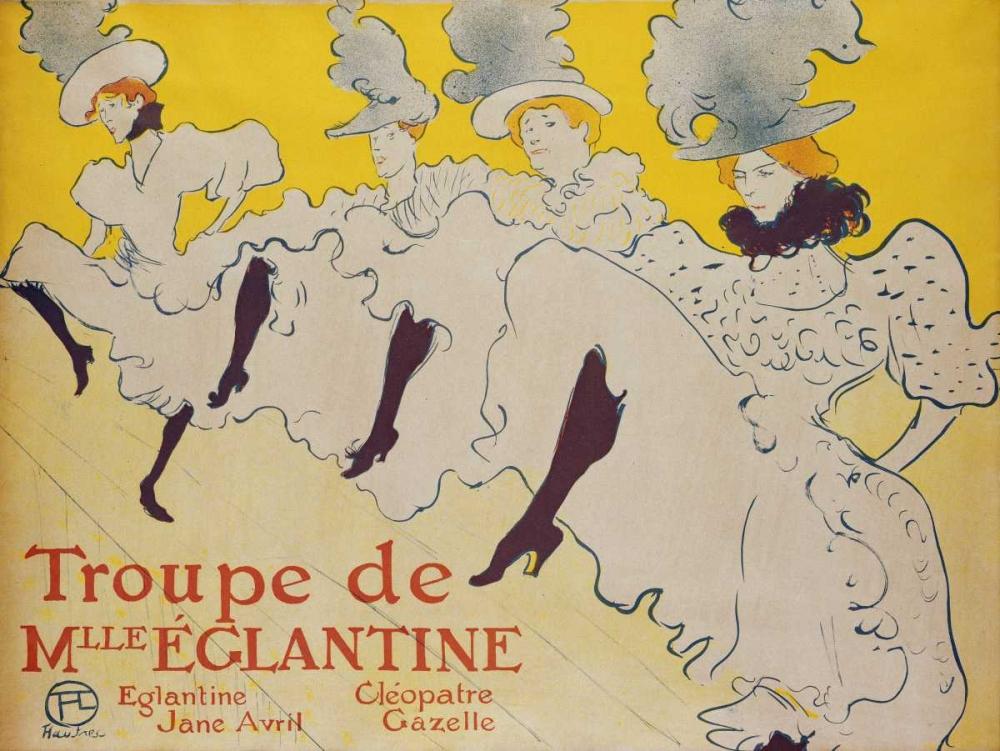 La Troupe De Mademoiselle Eglantine von Toulouse-Lautrec, Henri <br> max. 91 x 69cm <br> Preis: ab 10€