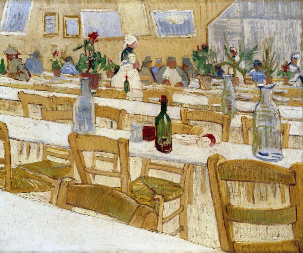 konfigurieren des Kunstdrucks in Wunschgröße A Restaurant Interior von Van Gogh, Vincent
