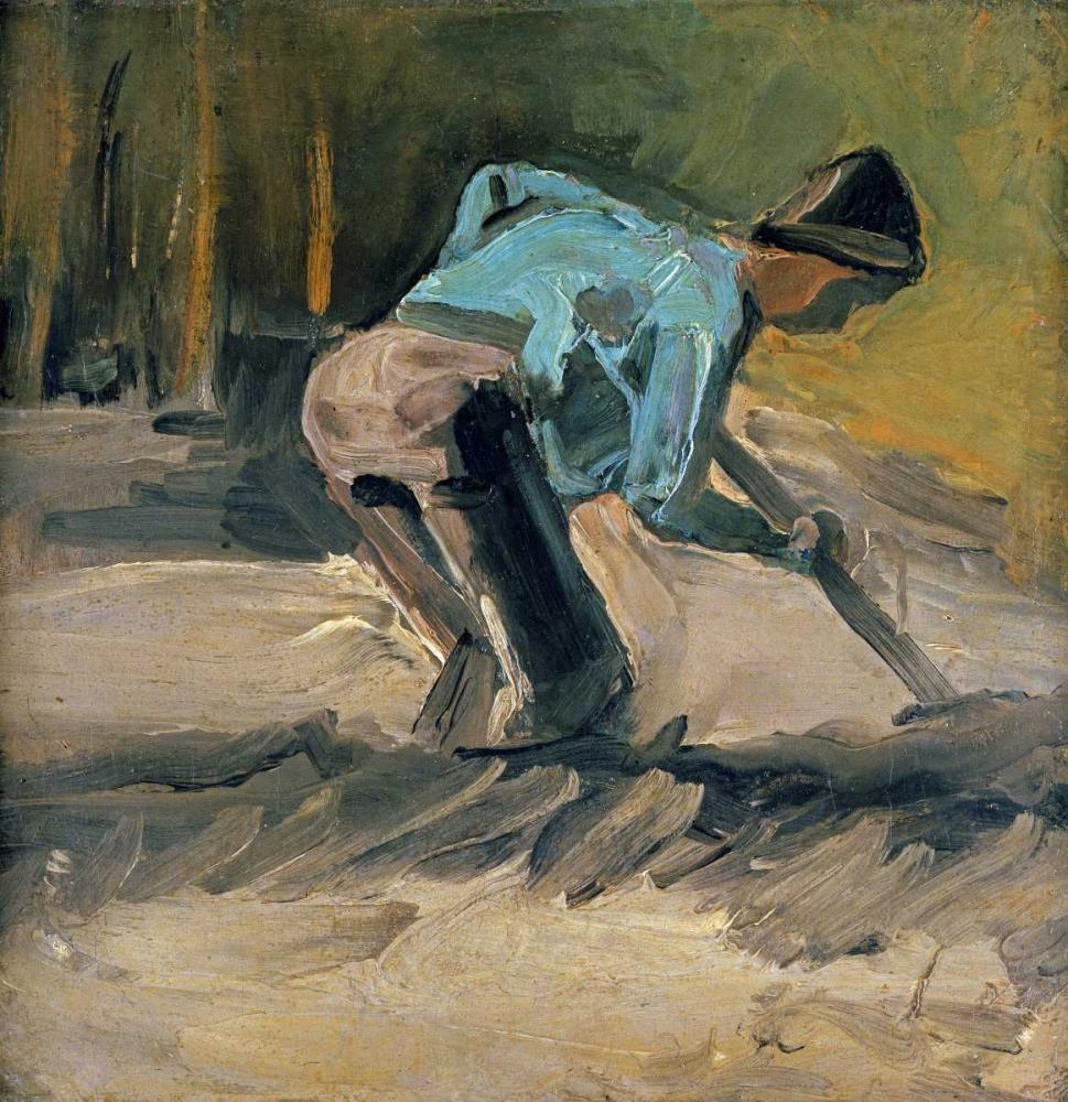 konfigurieren des Kunstdrucks in Wunschgröße Man at Work von Van Gogh, Vincent