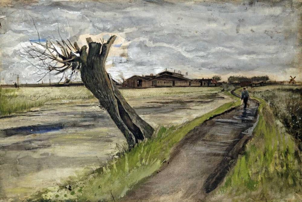 konfigurieren des Kunstdrucks in Wunschgröße Pollard Willow von Van Gogh, Vincent