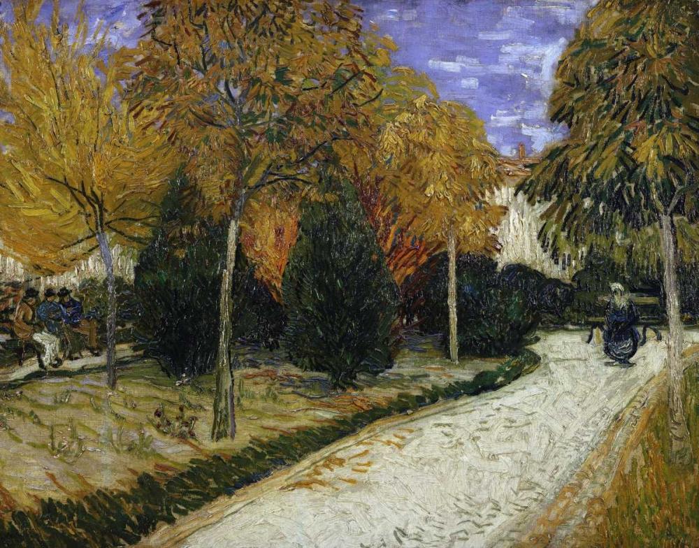 konfigurieren des Kunstdrucks in Wunschgröße The Public Garden von Van Gogh, Vincent