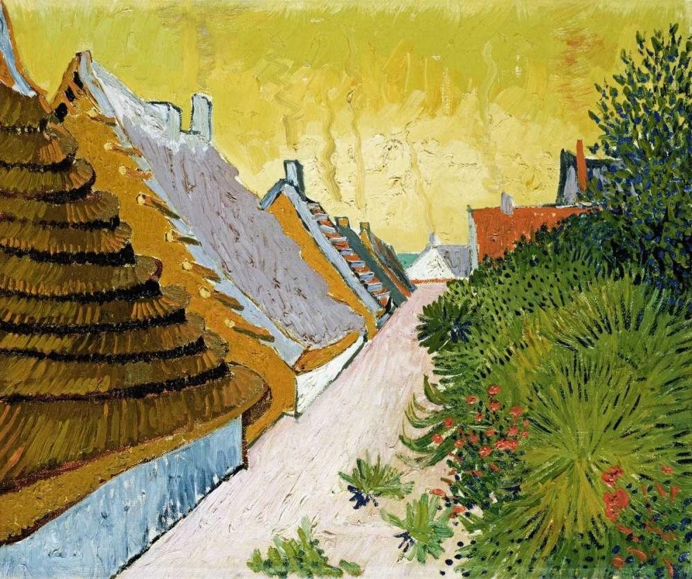 konfigurieren des Kunstdrucks in Wunschgröße Farmhouses at Saintes-Maries von Van Gogh, Vincent
