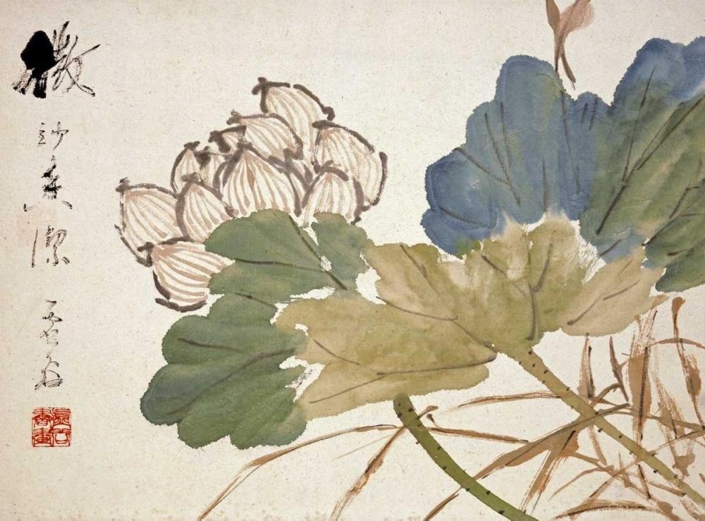 konfigurieren des Kunstdrucks in Wunschgröße Lotus von Gu, Xu