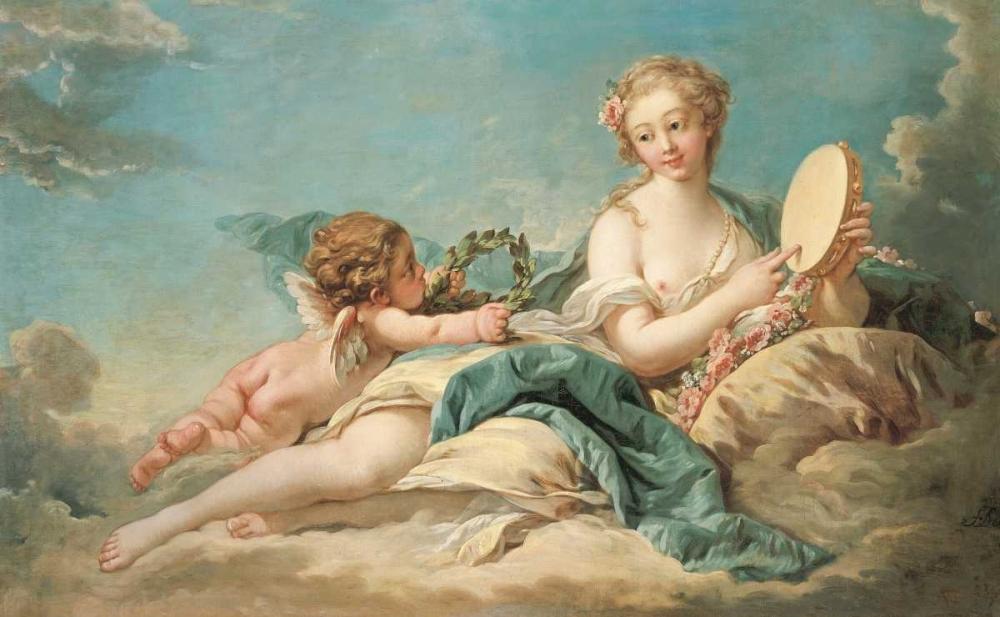 konfigurieren des Kunstdrucks in Wunschgröße Clio, The Muse of History and Song von Boucher, Francois