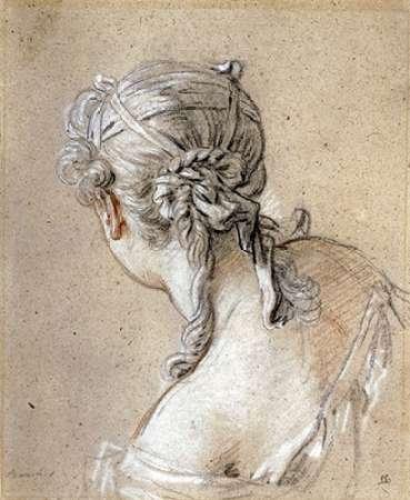konfigurieren des Kunstdrucks in Wunschgröße Head of a Woman Seen From Behind von Boucher, Francois