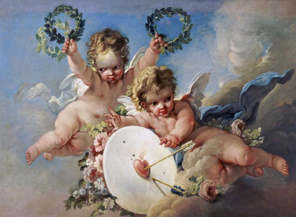 La Cible DAmour - Love Target von Boucher, Francois <br> max. 91 x 66cm <br> Preis: ab 10€