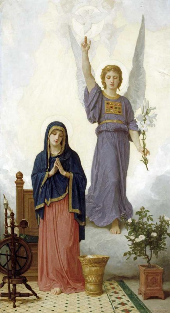 konfigurieren des Kunstdrucks in Wunschgröße The Annunciation von Bouguereau, William-Adolphe