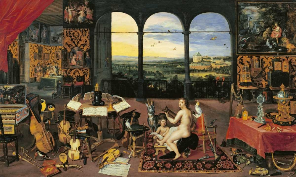 An Allegory of Hearing von Jan Brueghel the Elder <br> max. 173 x 104cm <br> Preis: ab 10€