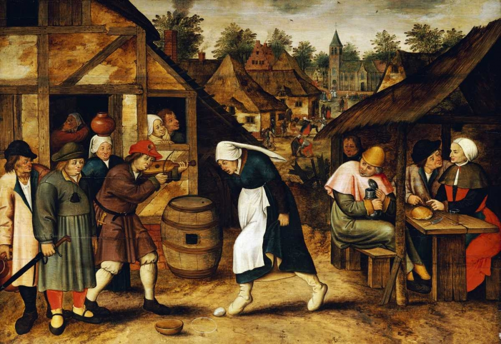 konfigurieren des Kunstdrucks in Wunschgröße The Egg Dance von Bruegel, Pieter the Elder
