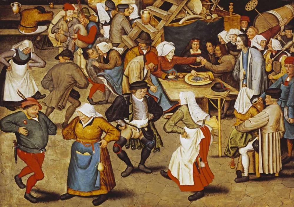 konfigurieren des Kunstdrucks in Wunschgröße The Indoor Wedding Dance von Bruegel, Pieter the Elder