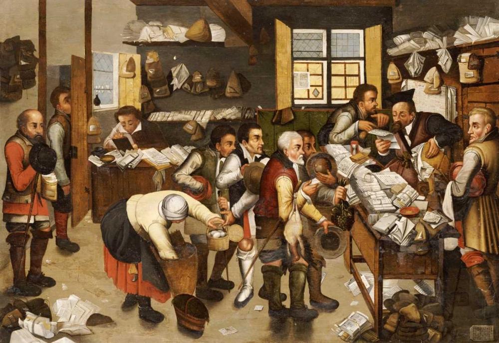 konfigurieren des Kunstdrucks in Wunschgröße The Payment of Tithes von Bruegel, Pieter the Elder