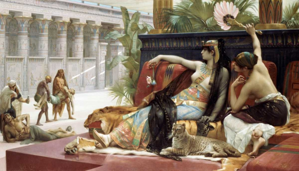 konfigurieren des Kunstdrucks in Wunschgröße Cleopatra Testing Poison On Condemned Slaves von Cabanel, Alexandre