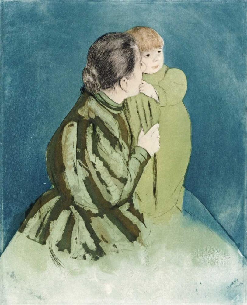 konfigurieren des Kunstdrucks in Wunschgröße Peasant Mother and Child von Cassatt, Mary