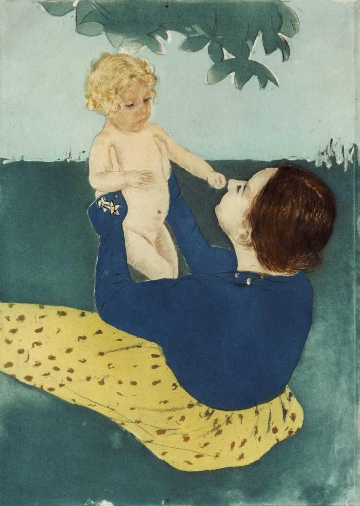 konfigurieren des Kunstdrucks in Wunschgröße Under The Horse Chestnut Tree von Cassatt, Mary