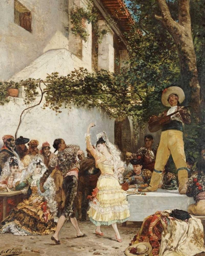 The Spanish Dancers von Clarin, Georges Jules Victor <br> max. 119 x 150cm <br> Preis: ab 10€